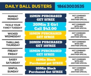 Daily Ball Buster Specials